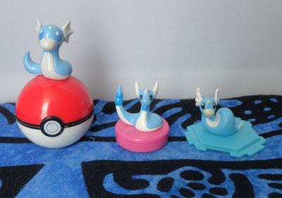 Pokemon Dratini and Dragonair Figures