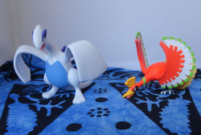 Pokemon Ho-oh and Lugia Hyper Size Tomy Figures