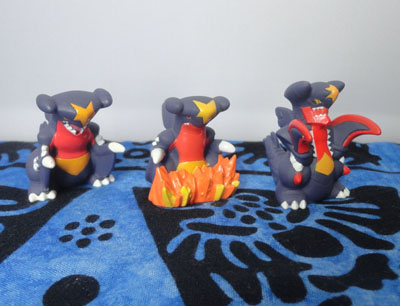 Pokemon Garchomp and Mega Garchomp Kids Figures