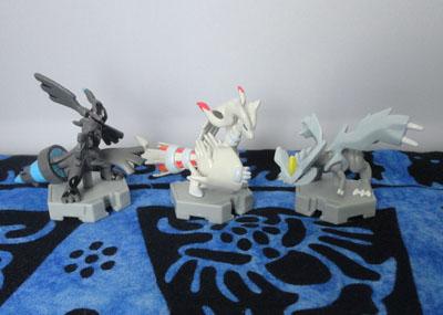 Pokemon Moncolle Plus Figures: Zekrom, Reshiram, and Kyurem