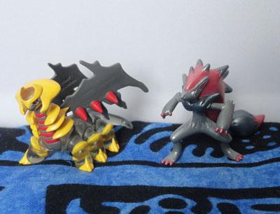 Pokemon Clear Tomy MC Giratina and Pearly MC Zoroark