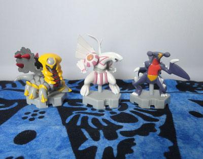Pokemon Moncolle Plus Figures Giratina, Palkia, and Garchomp