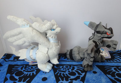Pokemon Reshiram and Zekrom My Pokemon Collection Keychain Plush