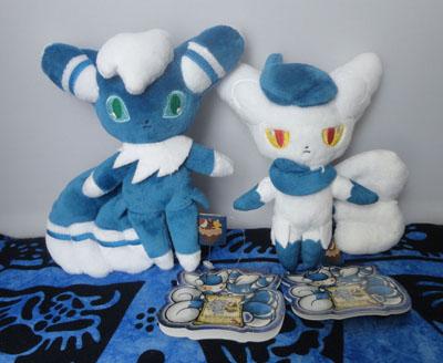Pokemon Meowstic Male and Female Mascot Plush