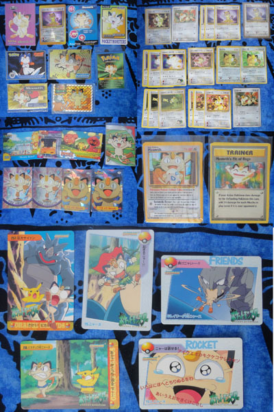 Pokemon Meowth Cards Mixed Lot