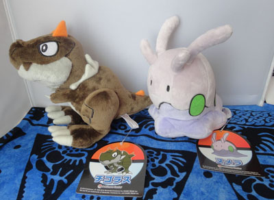 Pokemon Pokemon Center Japanese Tyrunt and Goomy Plush