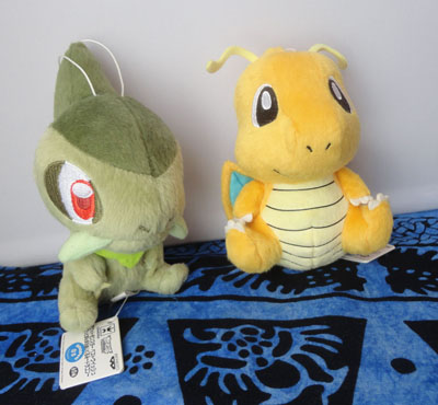 Pokemon Banpresto Dragonite and Axew Plush (Smaller Version from Dragon series)