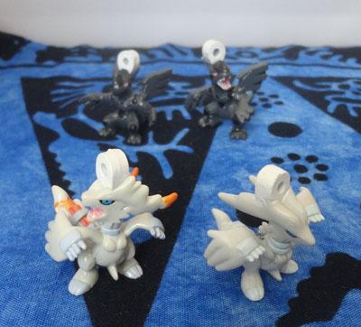 Pokemon Reshiram and Zekrom Soap Figures Bikkura Tamago