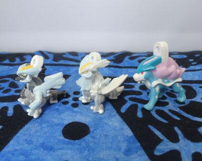 Pokemon Black Kyurem, White Kyurem, and Suicune Soap Figures Bikkura Tamago