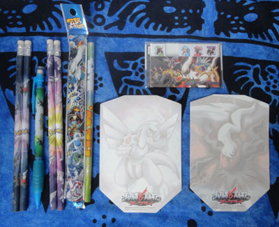 Pokemon Pencils, Memo Pads, and Bookmarks