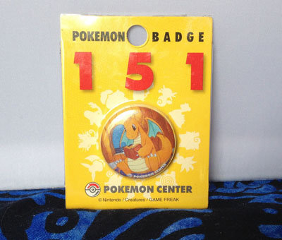 Pokemon Dragonite 151 Badge in packaging