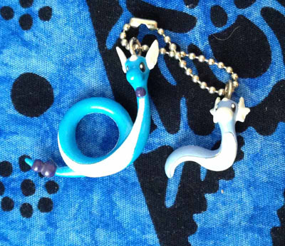 Pokemon Dratini and Dragonair Keychain Set