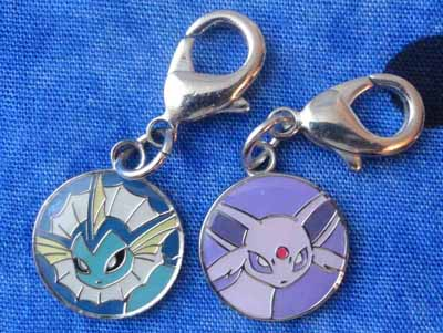 Pokemon Vaporeon and Espeon Eevee Collection Charms