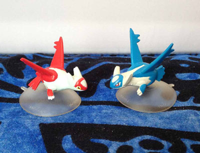 Pokemon Latias and Latios Suction Cup Figures