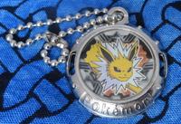 Pokemon Jolteon Metal Emblem Keychain