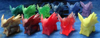 Pokemon Jolteon Mini Models 10 colors