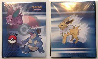 Pokemon TCG Binder with Jolteon and Nidoran and Nidoqueen