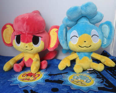 Pokemon Pansear and Panpour Pokedolls