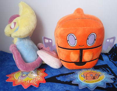 Pokemon Cresselia and Frost Rotom Pokedolls
