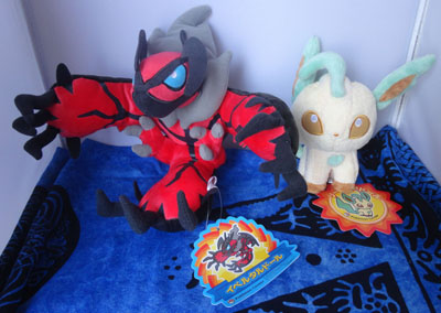 Pokemon Yveltal and Leafeon Pokedolls