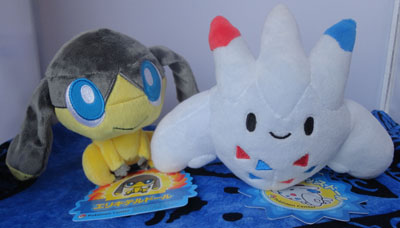 Pokemon Helioptile and Togekiss Pokedolls