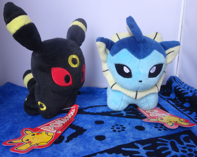 Pokemon Umbreon and Vaporeon Pokedolls
