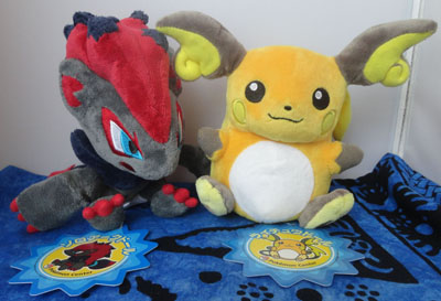 Pokemon Zoroark and Raichu Pokedolls