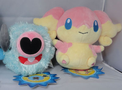 Pokemon Woobat and Audino Pokedolls