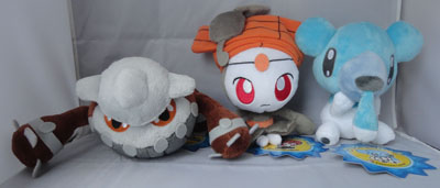Pokemon Heatran, Meloetta (Pirouette Forme), and Cubchoo Pokedolls