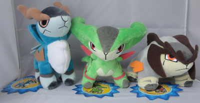 Pokemon Cobalion, Virizion, and Terrakion Pokedolls