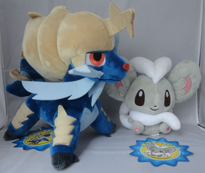 Pokemon Samurott and Cinccino Pokedolls