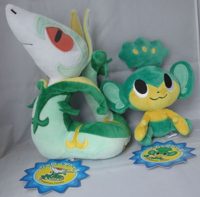 Pokemon Serperior and Pansage Pokedolls