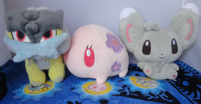 Pokemon Raikou, Munna, and Minccino Pokedolls