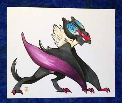 Pokemon Mitty Mandi Noivern Drawing
