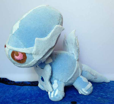 Pokemon Dialga Handmade Plush by PrincessPyro00