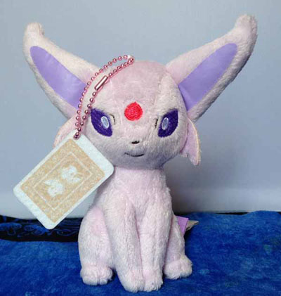 Pokemon Espeon Trump Card Keychain Plush