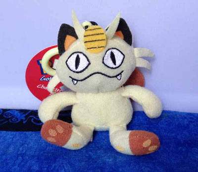Pokemon Meowth Character Clip-On Zipper Pull Plush