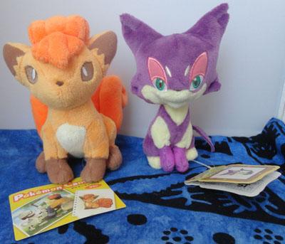 Pokemon Vulpix and Purrloin Canvas Plush