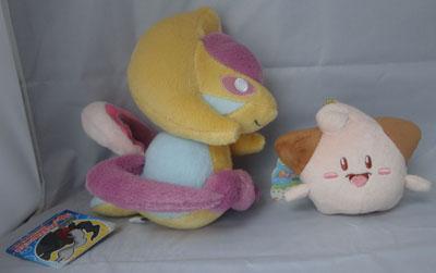 Pokemon Cresselia UFO and Cleffa Mascot Plush