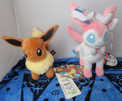Pokemon Pokemon Center Eevee and Sylveon Plush