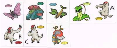 Pokemon Pan Stickers