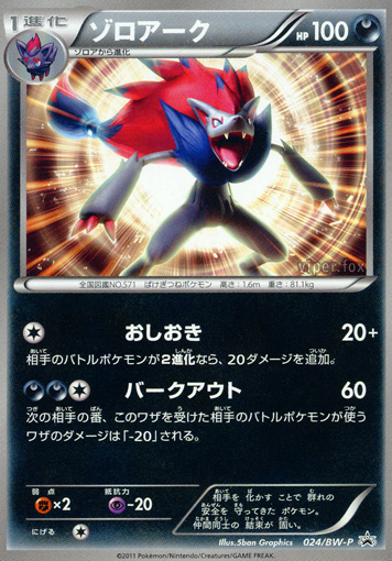 Pokemon Zoroark Japanese TCG