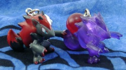 Pokemon Zoroark Pokeball Chibi Phone Charm