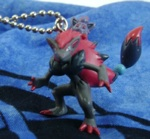 Pokemon Zoroark and Zorua Figure Keychain